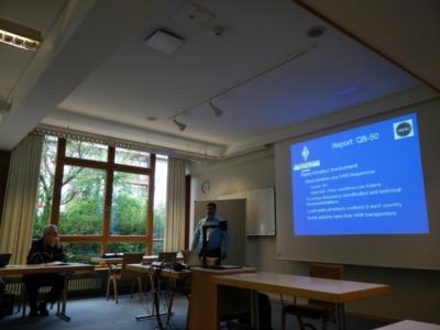 Stefan ON6TI beim Vortrag